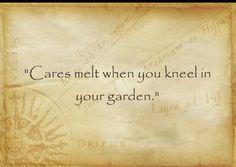 Cares melt....
