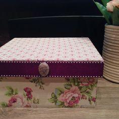 Caixa pequena  Estampa floral