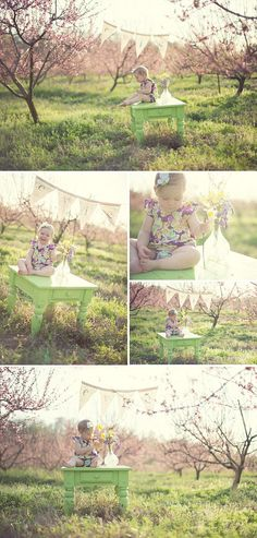 This is SO CUTE!!! // Pretty Peach Orchard Child Photography