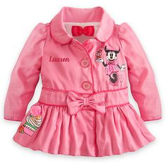Pink Minnie Mouse baby jacket my Bella needs this Baby Girl Fashion, Toddler Fashion, Kids Fashion, Disney Outfits, Girl Outfits, Disney Clothes, Pink Minnie, Minnie Mouse, Cute Coats
