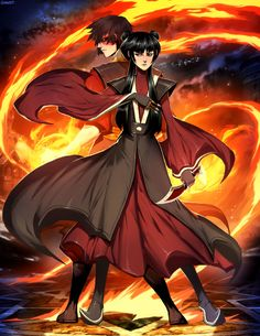 Avatar - Mai and Zuko by *GENZOMAN on deviantART