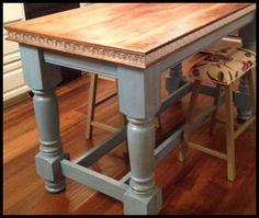 Unfinished Wooden island Legs | Husky kitchen island legs