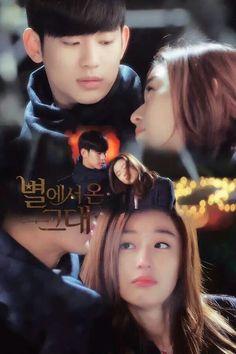 My love from another star Ahn Jae Hyun, Jang Hyuk, Movie Couples, Cute Couples, Korean Drama Movies, Korean Dramas, Taiwan Drama, My Love From Another Star, Cute Couple Art