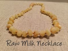 Raw Milk Baltic Amber Necklace for Baby, Infant, Toddler, Big Kid.