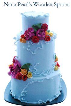 Blue Belle Wedding Cake