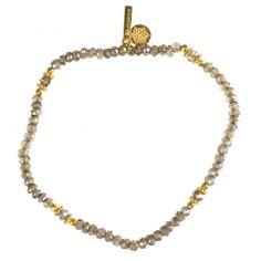 """Bracelet plaqué Or """"Uma"""" Quartz fumé"""