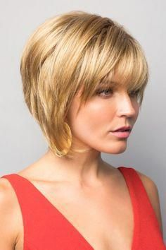 """Reese by Noriko Wigs Easy Hairstyles,"""" , Short Hairstyles For Thick Hair, Layered Bob Hairstyles, Short Hair With Layers, Layered Hair, Hairstyles With Bangs, Easy Hairstyles, Short Hair Styles, Hairstyle Ideas, Style Hairstyle"""