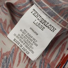 Size [L] TENDERLOIN (tenderloin) T-RAYON SHT WOLF rayon short sleeve shirt [Shiroakakon] [Used - very good] of brand clothes purchase sale STAY246