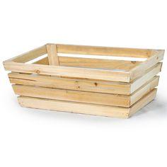 "Rectangular Wood Utility. $6  Dimensions: 12.5"" L x 9"" W x 4.75"" H"