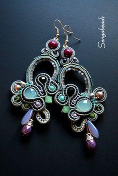 Soutache earrings made to order soutache jewelry by Sengabeads