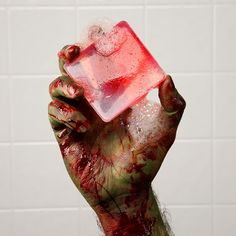 Zombie Soap! Perfect for cleaning all your zombie nooks and crannies. Seriously gross; seriously clean.