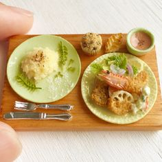 Dollhouse miniature ☆ ☆ mix fly lunch