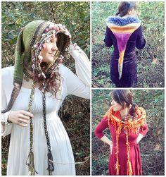 Make a beautiful fantasy hood with Lion Brand Heartland and Romance!