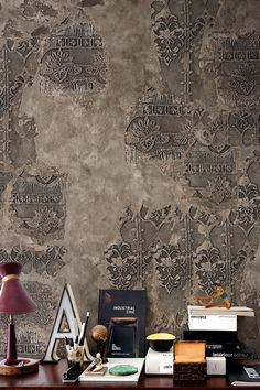 Wall&Deco Design Tapeten Kollektion 2017 Wall&Deco Wallpaper Mustertapete Fototapete italienisches Design The post Wall&Deco Design Tapeten Kollektion 2017 appeared first on Tapeten ideen. Faux Walls, Plaster Walls, Textured Walls, Faux Painting, Stencil Painting, Textures Murales, Faux Murs, Wallpaper Collection, Contemporary Wallpaper
