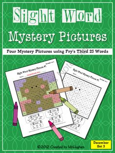 Sight Word Mystery Pictures- December Set 3 from MrHughes on TeachersNotebook.com (12 pages)  - **DECEMBER SET #3 of 4 NOW AVAILABLE**   The holiday fun continues with my Sight Word Mystery Pictures DECEMBER SET #3 of 4. Your students will love coloring these all new holiday themed mystery pictures.