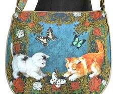 Victorian Kittens — Big slouchy messenger bag
