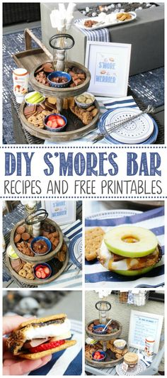DIY S'mores Bar - fun for summer parties, BBQs, camping and family nights! Everything you need to set one up including delicious s'mores recipes and cute free printables. Chocolate Chip Marshmallow Cookies, Chocolate Graham Crackers, Marshmallow Treats, Smores Bar Recipe, Digestive Cookies, Flavored Marshmallows, Chocolate Brands, S'mores Bar, Dessert Recipes