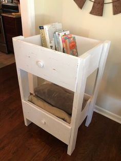 diy furniture DIY Repurposed Drawer Shelf - The Little Frugal House