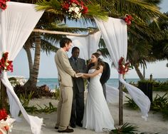 Exchanging vows... Marquardt|Penzato wedding at Las Terrazas #lasterrazas #belize #destinationwedding