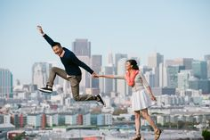 San Francisco Engagement: Potrero Hill/Embarcardero/Pier 7 – Jenny…