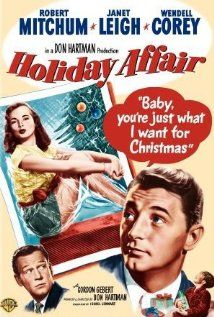 Holiday Affair (1949) Robert Mitchum, Janet Leigh, and Wendell Corey. directed by Don Hartman.  I like this Christmas movie