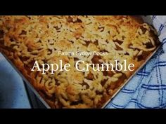 APPLE CRUMBLE - YouTube Easy No Bake Desserts, Sweet Desserts, Have A Snickers, Apple Tart Recipe, Trifle Pudding, Cooked Apples, Homemade Snickers, Something Sweet, Desert Recipes