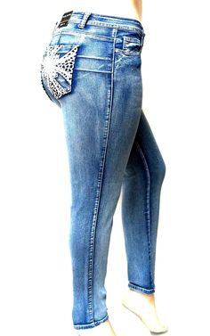 Longra Womens Autumn Jeans Elastic Butto Plus Loose Hole Casual Small Feet Cropped Jeans