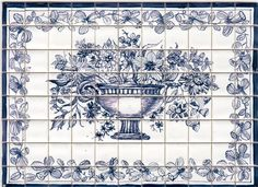 Delft Blue - tiny-ceramics, real ceramic miniature tiles 1:12 scale; terra-cotta or glazed, hand painted, made to measure