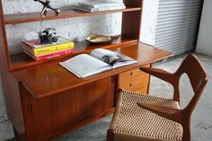 Sumptuous Swedish Mid Century Modern Teak Book Shelf Secretary Cabinet (Sweden, 1960's) | Flickr - Photo Sharing!