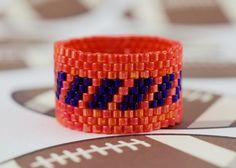 PEYOTE RING  Broncos Fan II by PeyoteRings on Etsy