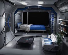 spaceship interior sleeping quarters - Google Search
