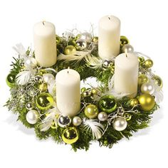 – a unique product by Gabi-Dekotraum on DaWanda Christmas Flower Decorations, Christmas Advent Wreath, Christmas Flower Arrangements, Christmas Table Centerpieces, Magical Christmas, Christmas Candles, Christmas Themes, Handmade Christmas, Christmas Crafts