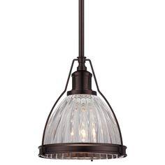 "$119.90  View the Minka Lavery 2242-267C 1 Light 8.75"" Height Indoor Mini Pendant in Dark Brushed Bronze at LightingDirect.com."