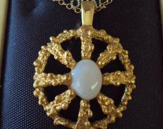 Genuine Opal Necklace on Etsy at RetroRosiesVintage