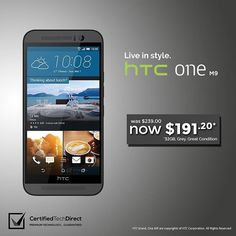 Be in style with the Grey HTC One M9. Limited stocks available. Get it at 20% off with code C20ELF. Ends 24th Nov. T&Cs apply. Click the link on our Instagram profile page. #ebaysale #techsale #htc #htcmania #htcone #htconem9