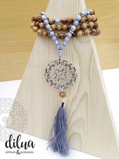 Halsketten von - dilua - schmuck und accessoires Tassel Necklace, Tassels, Jewelry, Czech Glass Beads, Silver Pendants, Gems, Handmade, Armband, Jewlery