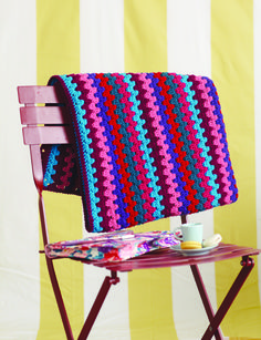 """Crochet - Free Pattern: """"Simone Scarf and Blanket"""" - Level: easy."""