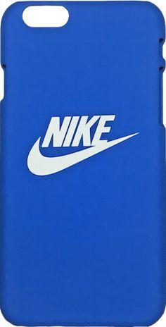 "Nike Royal Blue White ""Swoosh Logo"" Hard Plastic iPhone 6/6s + Plus Case"