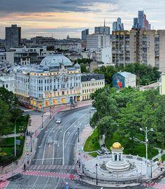 Москва с крыши здания ТАСС
