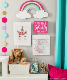 Hang some happy with magically cute decor featuring everyone's favorite fantastical creature! Hang some happy with magically cute decor featuring everyone's favorite fantastical creature!