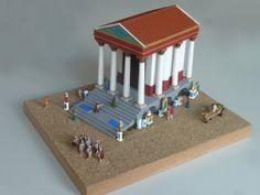 römischer Tempel M=1:100