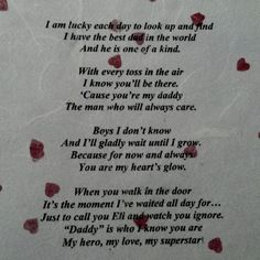 valentines poems daddy