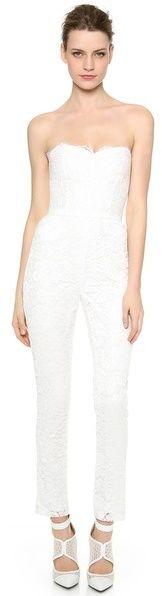 #Shop Now: Monique Lhuillier Paige Lace Jumpsuit |  | #Chic Only #Glamour Always