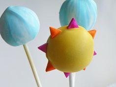 Summer Sky Cake Pops Depict Clear Blue Skies - Foodista.com