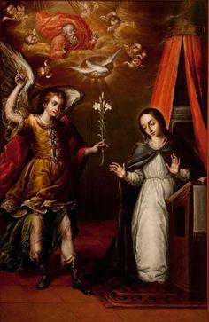 """Juan Correa, """"Anunciación"""", siglo XVI."""