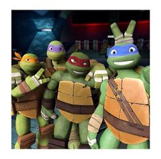 This is the cutest thing I've ever seen in my life! <3 <3 TMNT