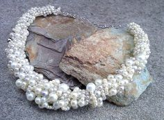 Pearl cluster necklace by ADesignJourney on Etsy, $65.00