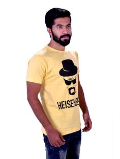 Heisenberg Themed Yellow Men's Tee - TrendsBay