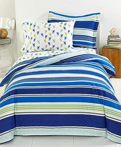 Cedar Park Stripe Flannel Duvet Covers - Duvet Covers - Bed & Bath - Macy's