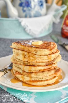 real quick and easy American pancakes - Amour de cuisine - real quick and easy . - real quick and easy American pancakes – Amour de cuisine – real quick and easy american pancak - Easy American Pancakes, Donuts, Waffles, Recipe For Teens, Salty Cake, Cupcakes, Cake Tins, Savoury Cake, Other Recipes